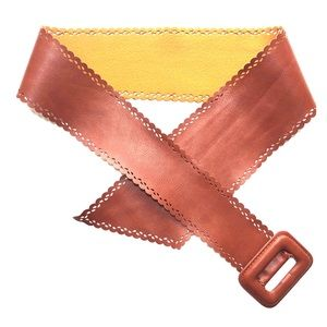 Brown Leather Belt From Anthropologie